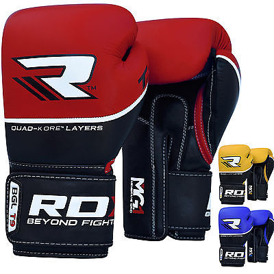 2. RDX Maya Hide Leather Boxing Gloves for Muay Thai F7