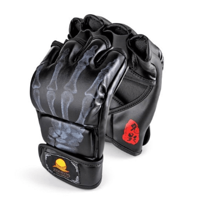 6. ZOOBOO Half-finger Boxing Gloves with Velcro Wrist Band