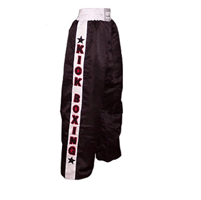 6. TurnerMAX Kick Boxing Trousers Black Martial Arts Pants
