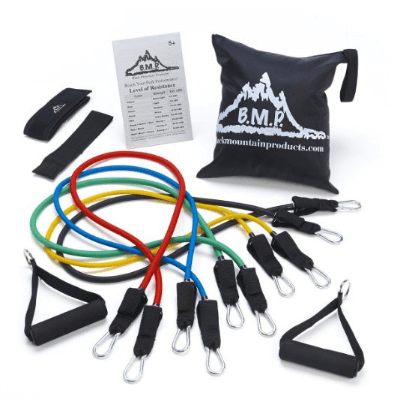 1. Black Mountain Products Resistance Band Set