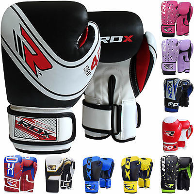 8. RDX Kids 6oz Maya Hide leather MMA Training mitts