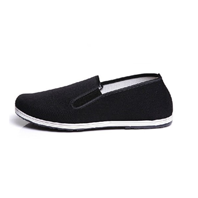 3. UNOW Chinese Traditional Cloth Kung Fu Shoes, Black