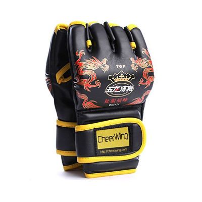 3. Cheerwing Half Finger Boxing MMA Glove Mitts