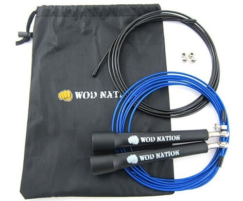 5. WOD Nation Speed Jump Rope best home gym equipment