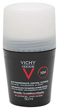 Vichy Homme 72h intense control roll-on deodorant